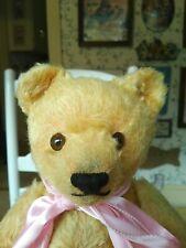 Antique Vintage 1950s blonde Steiff Original Teddy Bear 5335,2 or 01, 13in Vguc