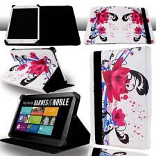 """FOLIO LEATHER STAND CASE COVER For Barnes & Noble NOOK 7"""" 9"""" Tablet + Stylus"""