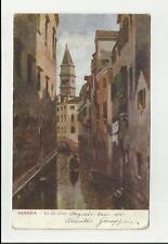 antica cartolina illustrata artistica  venezia rio del lovo