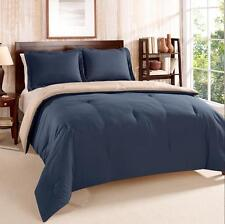 TWIN / TWIN X-LONG - Tommy Hilfiger - Navy Tan REVERSIBLE COMFORTER & SHAM  SET