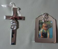 """RUSSELL COLLECTION  """"BABY CROSS AND PICTURE FRAME"""" HI CRF    IN GIFT BOX"""