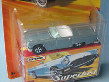 Matchbox Superfast 1957 Ford Thunderbird Metallic Light Blue T Bird Classic USA