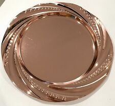 Luxurious Copper Finish Charger Plate