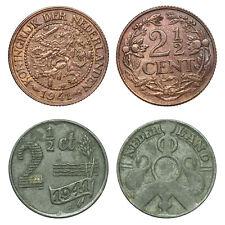 Netherlands - Lot  2½ Cent 1941, 1941 zink