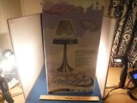 RARE NEW THE AMAZING HOVER LAMP IVORY & SILVER COLORED NIB CHRISTMAS GIFT!!!