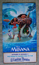 EL CAPITAN THEATRE Flyer Invitation Program Brochure MOANA Dwayne Johnson