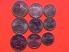1+2+5 Euro cent Münzen aus  Luxemburg  + Slowenien  + Finnland