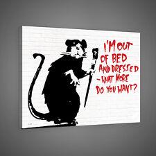 Canvas Foto Wandbild Leinwandbild Bild Poster BANKSY STREET ART RATTE 3FX2033O4