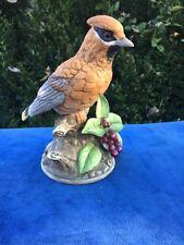 ROYAL CROWN Antique Bird Grouse Pheasant Quail Berries Figurine by J Byron RARE