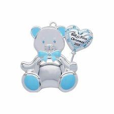 "New Harvey Lewis Swarovski Ornament Bear  ""Baby's First Christmas 2016"" Boy"