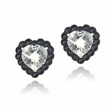 Black Irradiation Stud Fine Earrings