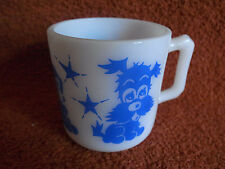 Vintage Hazel Atlas Blue Puppy Bunny Rabbit Duck Kiddie Cup Child Mug-MINT!