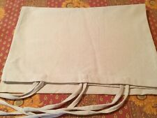 Grain Sack Solid Cream Standard Pillow Sham 100% Cotton Home Collections Nwot