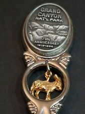 Grand Canyon Fort Rare 75Th Anniversary Collector'S Spoon Donkey Charm Excellent