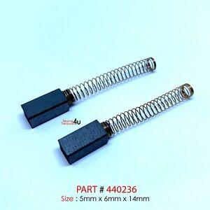 2x Sewing Machine CARBON BRUSH #440236 5x6x14mm Fits ELNA 45, 46, 55, 56, 65, 66