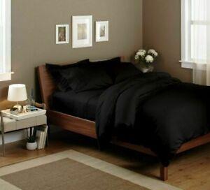 Black Solid Split Corner Bedskirt Choose Drop Length US Size 800 Count