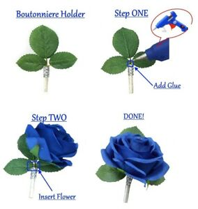Boutonniere Holder - Make your own beautiful prom event flower in seconds
