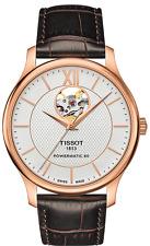 *BRAND NEW* Tissot Men's Brown Leather Strap Steel Watch T063.907.36.038.00