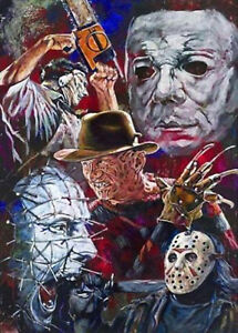 Horror Characters DIY 5D Diamond Painting Full drill Embroidery Art Craft /3034