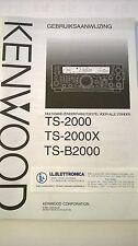 MANUALE IN TEDESCO istruzioni d'uso per KENWOOD TS-2000