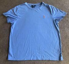 Men's Polo Ralph Lauren Baby Blue Custom Fit T Shirt Size XL EUC