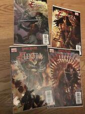 lots of 4 ELEKTRA (DARK REIGN) MARVEL #1,2,3,5 COMICS BOOK