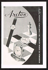1950's Old Small Vintage 1957 Arctos Swiss Watch & Clock Co. vintage print ad