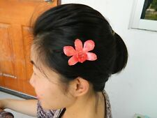 NW ONG Real Orchid Hair Clip Natural in RED very Rare and Stunning!
