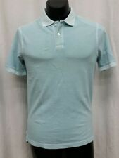 73782496 MERONA Ultimate Polo Shirt L Blue Aqua Short Sleeve 100% Cotton Two Button  Men