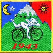 Blotter Art Albert Hofmann Bicycle Ride 1943 Embroidered Patch Hippie Fashion