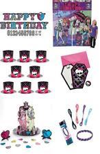 55pc Monster High Birthday Banner Friend Bracelets, Hats, Invites, Table Topper