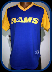 LOS ANGELES RAMS MITCHELL & NESS FINAL SECONDS PULLOVER JERSEY ADULT MEDIUM