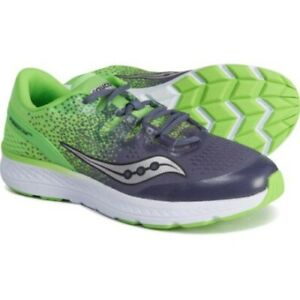 Saucony Boy's freedom ISO Sneaker, Gray/Slime, Size 2.5 M NEW!!!
