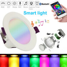 RGB LED Smart Downlight Recessed Spotlight Ceiling Amazon Alexa Googel Bluetooth