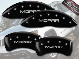 "2015-2017 Jeep Renegade Front + Rear Black MGP Brake Disc Caliper Covers ""Mopar"""