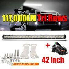 "42Inch 2808W Tri-Row LED Work light bar Spot Flood Combo Beam IP68 vs 40""+Wiring"