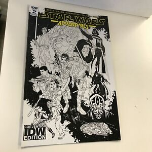 IDW STAR WARS ADVENTURES 2 : IDW COMIC CON VARIANT COVER : NM