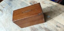 Hardwood Vintage Money Box Rectangular With Secret Access