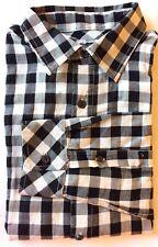 Armani Exchange AX Men Dress Shirt Black Gingham Long Sleeve Slim Fit Small