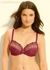 NWT CHANTELLE 3851 Burgundy ICONE 3-Part Cup Sheer Art Nouveau Bra 36DD 36E