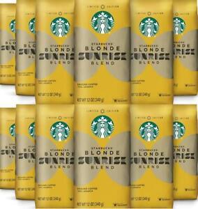 12 PACK Starbucks Sunrise Blend Blonde Roast Ground Coffee BEST BEFORE 11/2019