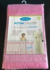 "NWT AirflowBaby Crib Liner Pink Mesh No Gap Airflow Baby Nursery Bumper NEW 14"""