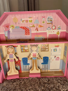 Magnetic Dress Up Wooden Doll House