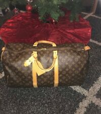 Authentic Louis Vuitton Keepall 55 Monogram Duffle Bag