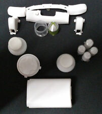 ** White Xbox 360 controller Button Kit Lot of 22 ~ Lettered ABXY buttons (c)