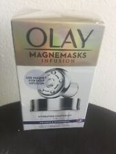 OLAY Magnemasks Infusion Hydration Duo Starter Kit For Dryness & Roughness New