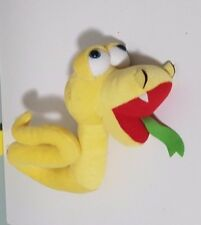 YELLOW ALLENS LOLLY LOLLIES PROMOTIONAL SNAKE PLUSH TOY SOFT TOY ABOUT 18CM TALL