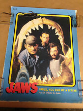JAWS SCREEN PRINT BY CRAIG DRAKE SIZE 18X24 INCHES JAWS THE TRADING CARD PRINT !