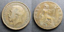 Royaume-Uni, Georges V, half penny 1916