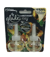 2X 2 Pack Glade Sultry Spiced Rhythm Plugins Scented Oil Refills Limited Edition